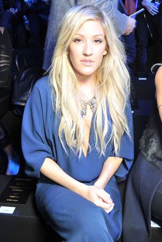 Ellie Goulding front row at Roberto Cavalli. www.topshelfclothes.com #MFW