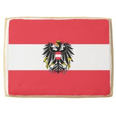 Austrian flag Cookie Jumbo Cookie