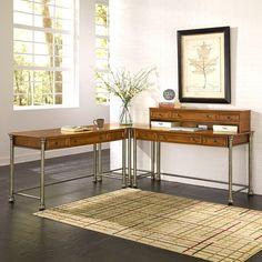 Home Styles The Orleans Corner L-Desk - vintage caramel | from hayneedle.com