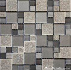 Geometric Grey Mosaic