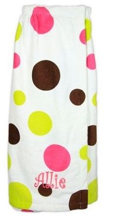Sherbet Dot Monogrammed Bath Spa Towel Wrap luv this! High School Graduation Gifts, Graduation Presents, College Gifts, Grad Gifts, Graduation Ideas, Monogram Gifts, Personalized Wedding Gifts, Cute Gifts, Diy Gifts