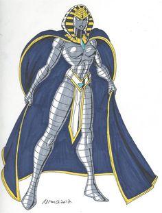 This Original Character Design has a bit of a weird origin. Character Design Animation, Fantasy Character Design, Character Design Inspiration, Character Art, Female Superhero, Superhero Design, Goddess Art, Egyptian Goddess, Fantasy Girl