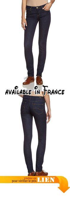 B00C793TEQ : Lee Scarlett L526 OGCX - Jeans - Skinny - Femme - Bleu - FR: 36 (Taille fabricant: W26/L33). l526albc Scarlett vert saphir. 98% coton 2% élasthanne. PETIT cuir foncé Lee étiquette. Machine à laver - Froid (30 max). Premium Italien Extensible de Luxe Jeans