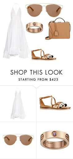 """Без названия #1026"" by sophiemartiash ❤ liked on Polyvore featuring Loup Charmant, South Beach, Christian Dior and Mark Cross"