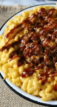 Piggy Mac and Cheese- (Pulled Pork Mac and Cheese)