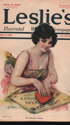 Handout/From the collection of the Talking Board Historical Society 1920 Leslie's Magazine cover.