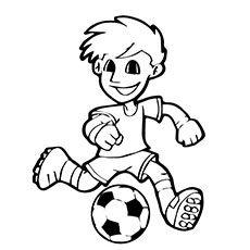 Soccer Player with Ball Coloring Pages