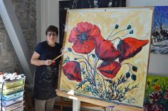 Natalie Bohnen-Twiddy is a renowned Canadian artist with her art studio located at the tett Centre located in Kingston, Ontario. Canadian Artists, Poppies, Painting, Beans Recipes, Paintings, Draw, Drawings, Poppy Flowers