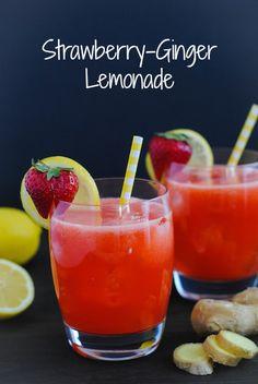 Strawberry-Ginger Lemonade - A unique and refreshing twist on classic lemonade! | foxeslovelemons.com