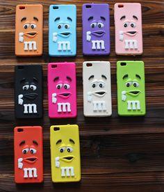 3D Cute Cartoon M&M's chocolate candy cartoon Soft Silicone Back Cover Shell For Huawei P8P8 LiteP9P9 Lite Phone Cases Fundas