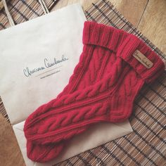 Cashmere and wool knitted socks