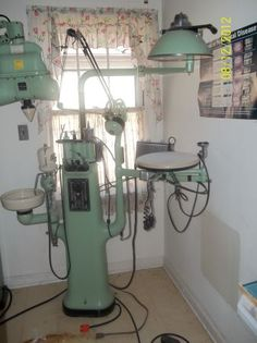 Vintage Dental Equipment   Just primitive enough to put a person in a stress-induced heart attack!