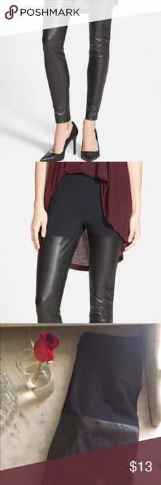 Leith faux leather leggings, like new Amazing and super comfortable! Great alternative to leather for vegans 💗✌🏻️ Leith Pants Leggings