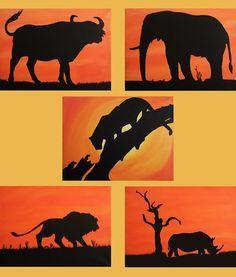 The Big Five - Afrika Tiere- 5 x 40 x 30 cm