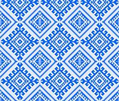 shakami_blue fabric by holli_zollinger on Spoonflower - custom fabric
