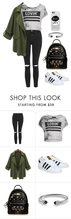 """""""Casual Outfit For School"""" by emmygarcia77 on Polyvore featuring Topshop, Religion Clothing, Chicnova Fashion, adidas, David Yurman, Casetify, women's clothing, women's fashion, women and female"""