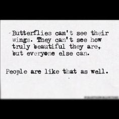 An inspirational picture quote about people and butterflies not ...