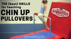 """In gymnastics, one of the """"milestone"""" skills for a rec athlete is the Chin-up Pullover. From time to time, I might come across a kid with the natural strength and coordination to learn… Toddler Gymnastics, Gymnastics At Home, Gymnastics Levels, Gymnastics Handstand, Gymnastics Lessons, Preschool Gymnastics, Gymnastics Tricks, Gymnastics Coaching, Gymnastics Training"""