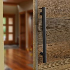 These long pulls feature simple styling and plenty of gripping area for opening and closing large doors. They are available in two finishes—stainless steel and satin black—both of which are perfectly matched to the finishes on our I-Semble Rolling Barn Door Hardware Kits (#56667 and #52109, sold separately). Rockler Woodworking, Woodworking Toys, Woodworking Supplies, Barn Door Handles, Sliding Barn Door Hardware, Sliding Doors, Gate Hardware, Folding Closet Doors, Indoor Barn Doors