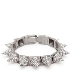 CC Skye Pave Punk Princess Spike Bracelet - jewelry | Find.com  Get the best deals on #spiked jewelry at Find.com!