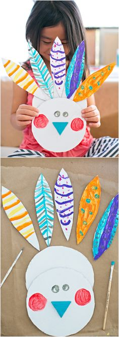 Easy Painted Cardboard Turkey Craft. Cute Thanksgiving art project for kids.
