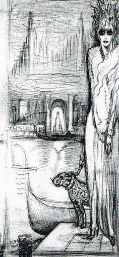 Marchesa Casati Sketch   The House of Beccaria