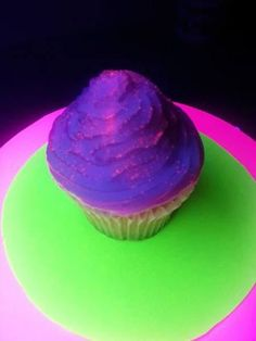 Here's a recipe that learns you how to make cupcakes that glow under black light. The trick is dipping the iced cupcakes in a Jello and tonic water mixture