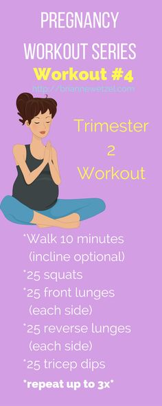 Check out one of the many pregnancy workouts in this series as we begin the second trimester. Three workouts are available for each trimester