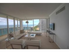 10275 Collins #1510, Bal Harbor 33154. Spectacular SE corner 2 BD / 2 BA with stunning direct ocean views. Best condo in best line of the building - 10 Line. The only 10-Line with balcony off of Master and Guest BR's. Floor-to-ceiling windows facing East and South. Top of the line S/S appliances. W/D inside unit. Building features theater, party room, state of the art gym and store. Walk to Bal Harbour Shops!