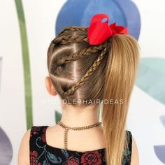 braid hairstyles for school Bridesmaid Easy Toddler Hairstyles, Braided Hairstyles For School, African Braids Hairstyles, Braid Hairstyles, Wedding Hairstyles, Girls Hairdos, Lil Girl Hairstyles, Girl Haircuts, Simple Girls Hairstyles