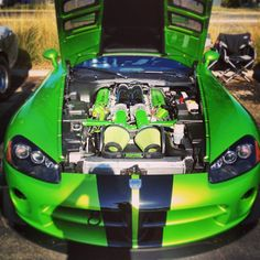 The Beast on the inside clearly perfect on the inside as well as the outside!! Awesome Green viper!