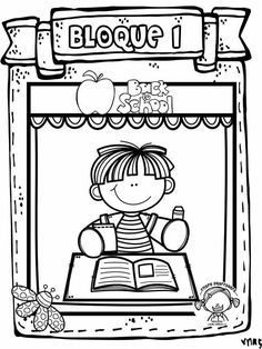 Portadas Cool Coloring Pages, Coloring For Kids, Go Math, School Clipart, Preschool Education, School Items, School Decorations, New School Year, Childhood Education