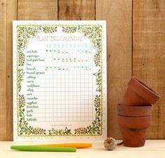Printable Planting Calendar & 3 Ways to Use It - Happy spring fellow Hometalkers! Here's a set of lovely and free printable planting calendar for you! Veg Garden, Vegetable Garden Design, Garden Trellis, Edible Garden, Regrow Vegetables, Cold Frame, Garden Journal, Diy Greenhouse, Plantar