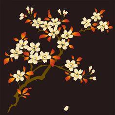 Japanese Patterns, Japanese Art, Designer Bed Sheets, Cherry Blossom Art, Kerala Mural Painting, D Flowers, Blossom Tattoo, Botanical Art, Flower Art