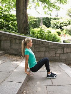 Triceps Dip #staircase #workout http://greatist.com/move/stair-workout-to-take-your-routine-next-level