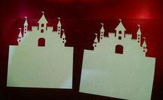 Castle tent style place cards set of four