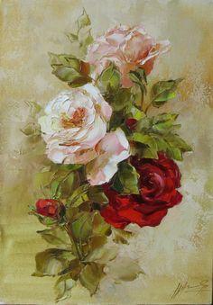 Victorian Flowers, Vintage Flowers, Watercolor Flowers, Watercolor Art, 2 Clipart, Rose Pictures, Rose Art, Botanical Art, Beautiful Paintings