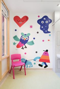 Jon Burgerman creates colourful illustrations for Sheffield Children's Hospital - Design Week