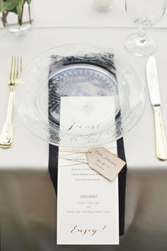 Place setting w/salad- Glass plates with maroon napkin under?