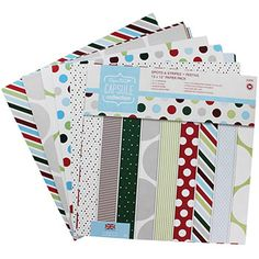 Spots And Stripes Festive Paper Pack - 12 x 12 Inches