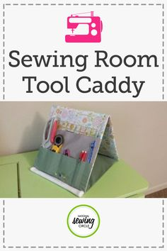 You can easily store, transport, and display all your sewing tools with this cute and customizable sewing tool caddy. This caddy folds up so you can securely take your sewing tools on the road, then folds out to display your tools for use. The creative stand-up design makes tools easier to see and grab. You can even customize the pocket sizes to fit your favorite tools.