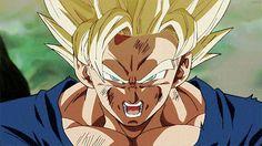 Goku powering up to ssg♡>//w//<