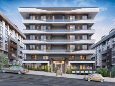 Statü Trend Mimari | Vero Concept Mimarlık Mix Use Building, Building Design, Facade Architecture, Concept Architecture, Facade Design, Exterior Design, Bungalow Haus Design, Design Apartment, Building Facade