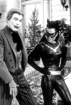 Cesar Romero as The Joker and Eartha Kitt as Catwoman on the 1960's TV series.
