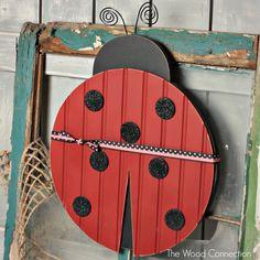 The Wood Connection - Ladybug Door Hang, $12.95 (http://thewoodconnection.com/ladybug-door-hang/)