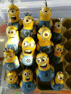 Minions on small gourds