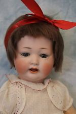 """14"""" Antique German Bisque Kley & Hahn Character Baby doll with crier mechanism"""