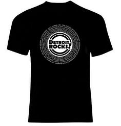 DETROIT ROCKS! T-Shirt Zooming Into The Future (Then & NOW)