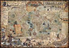 Piraten wereldkaart