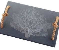 For: Coastal/Nautical Entertainers Slate Beach coral Serving Tray/Cutting Board Price:34